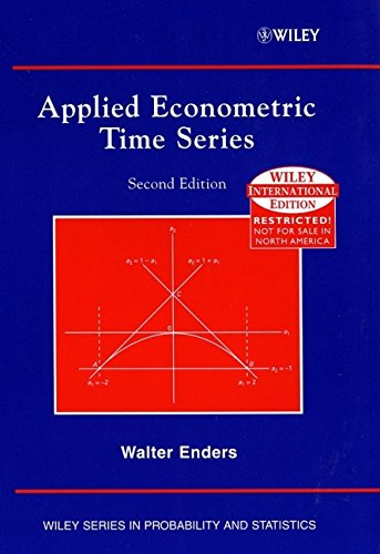 9780471451730: Applied Econometric Times Series (Wiley Series in Probability and Statistics)