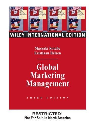 9780471451877: Global Marketing Management