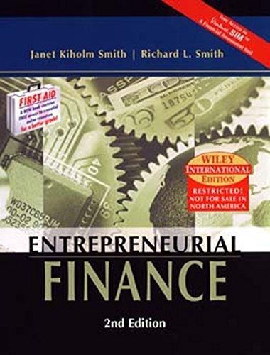 9780471452218: Entrepreneurial Finance