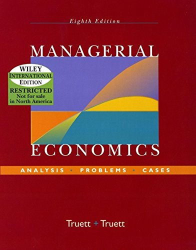 9780471452232: Managerial Economics: Analysis, Problems, Case