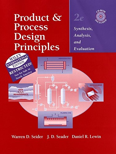 9780471452478: Product and Process Design Principles: Synthesis, Analysis, and Evaluation