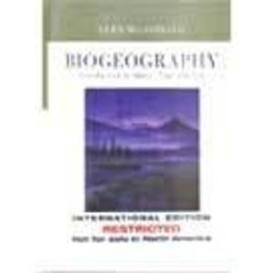 9780471452607: Biogeography: Introduction to Space, Time and Life