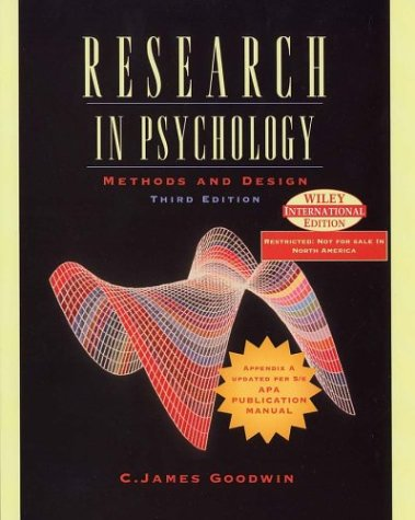 9780471452645: Research in Psychology: Methods and Design