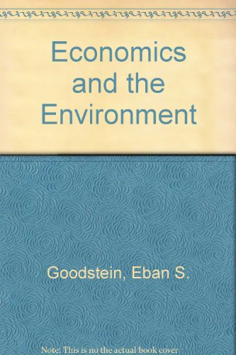 9780471452843: Economics and the Environment