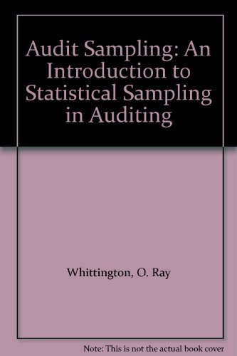 9780471452867: WIE Audit Sampling: An Introduction to Statitical Sampling in Auditing