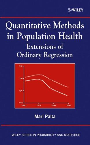 9780471455059: Quantitative Methods in Population Health: Extensions of Ordinary Regression