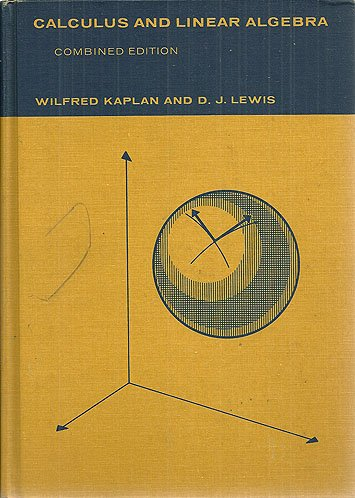 9780471456872: Calculus and Linear Algebra