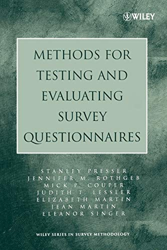9780471458418: Methods for Testing and Evaluating Survey Questionnaires