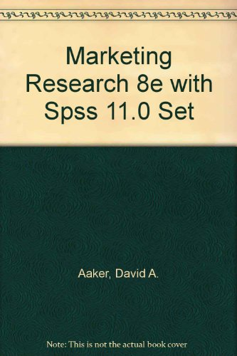 9780471458852: Marketing Research 8e with Spss 11.0 Set: WITH SPSS 11.0