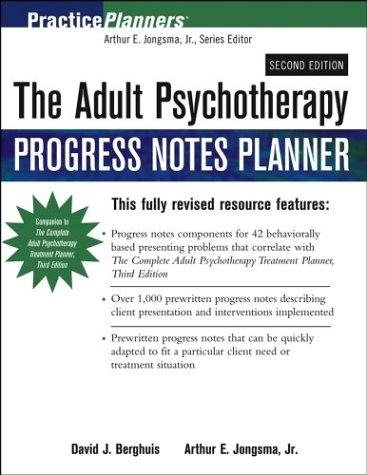 9780471459781: The Adult Psychotherapy Progress Notes Planner (PracticePlanners)