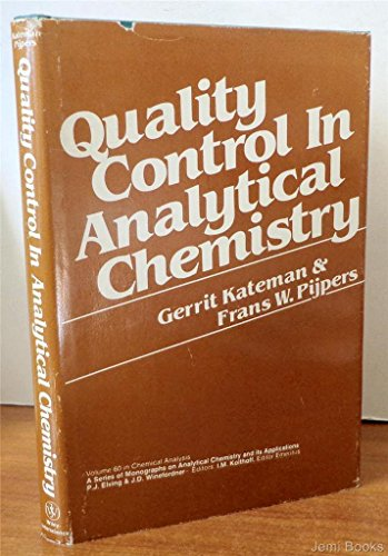 9780471460206: Quality Control in Analytical Chemistry (Chemical Analysis)