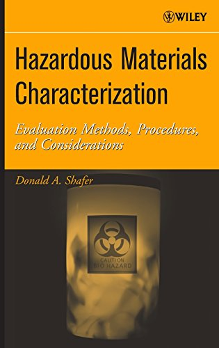 Hazardous Materials Characterization : Evaluation Methods, Procedures, and Considerations