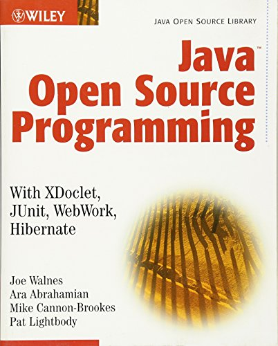 Java Open Source Programming: with XDoclet, JUnit,: Walnes, Joseph, Abrahamian,