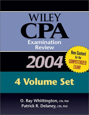 9780471463993: Wiley CPA Examination Review 2004, 4 Volume Set