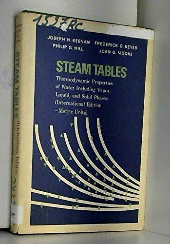 Steam tables: Keenan, J.H., Keyes,