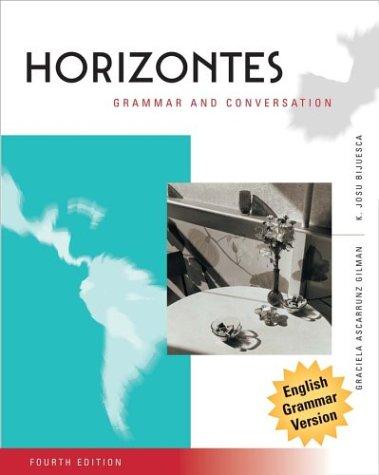 9780471466758: Horizontes, Grammar and Conversation
