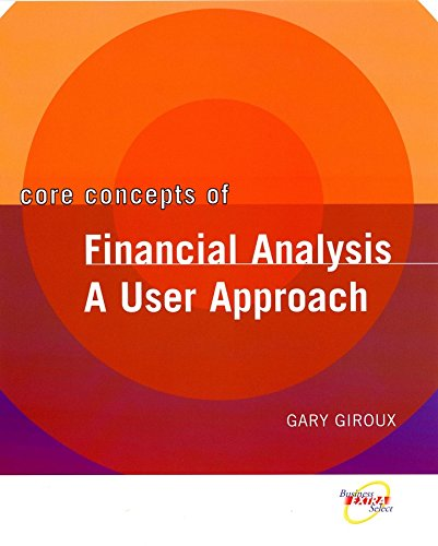 9780471467120: Core Concepts of Financial Analysis: A User Approach