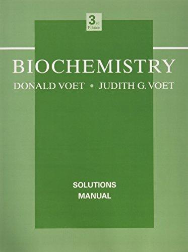 9780471468585: Biochemistry, Solutions Manual