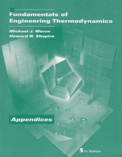9780471469308: Fundamentals of Engineering Thermodynamics, Appendices