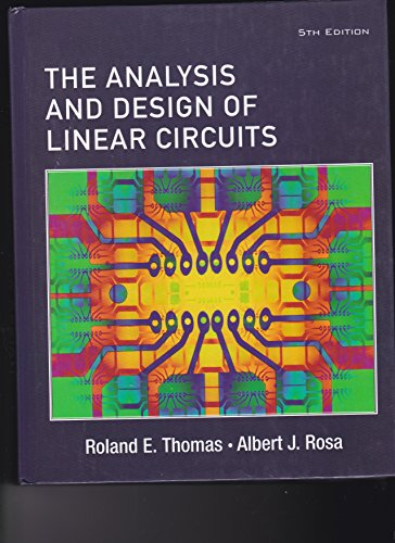 9780471469681: Student Solutions Manual the Analysis and Design of Linear Circuits &      Laplace Early