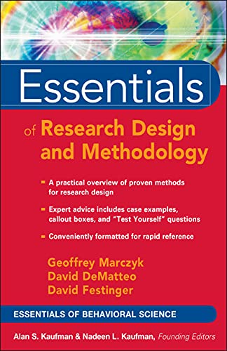 9780471470533: Essentials of Research Design and Methodoly