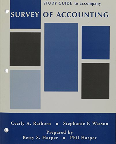 9780471470885: Survey of Accounting, Study Guide