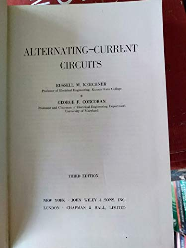 9780471471301: Alternating Current Circuits