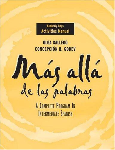 9780471472322: Más allá de las palabras, Activities Manual: A Complete Program in Intermediate Spanish