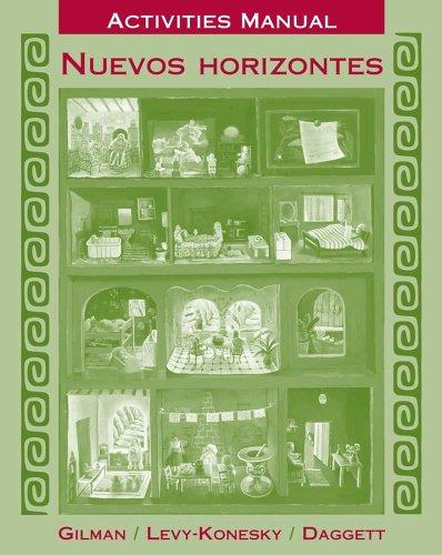 9780471475989: Activities Manual to accompany Nuevos horizontes, 1e