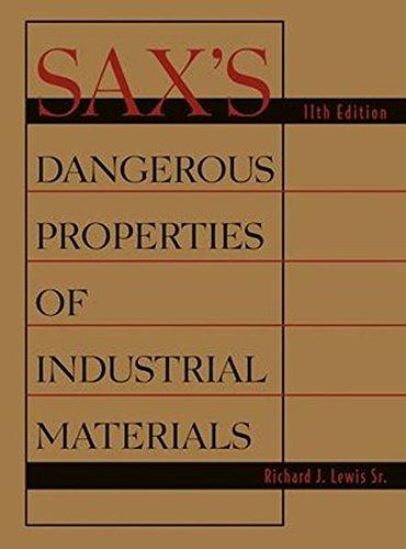 9780471476627: Sax's Dangerous Properties of Industrial Materials (3 Volume Set)