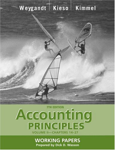 Accounting Principles, with PepsiCo Annual Report, Working: Jerry J. Weygandt,