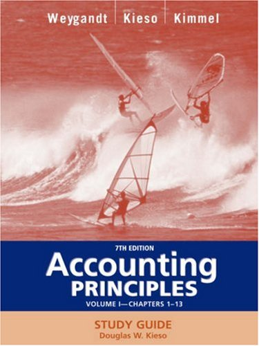 Accounting Principles, Study Guide, Vol. 1, Chapters: Jerry J. Weygandt,