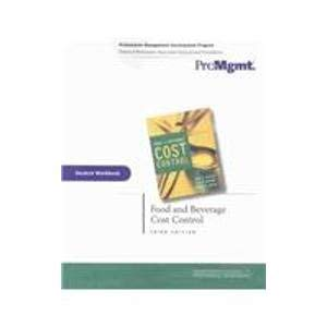 9780471477877: Food and Beverage Cost Control, Student Workbook