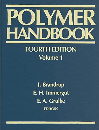 9780471481713: Polymer Handbook (Volume 1)