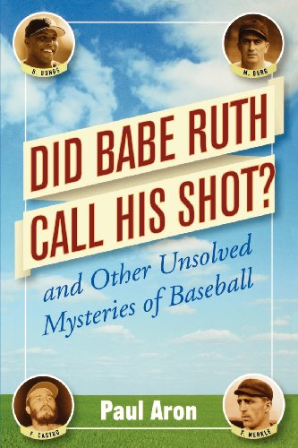 9780471482048: Did Babe Ruth Call His Shot? and Other Unsolved Mysteries of Baseball