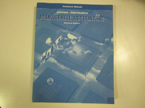 9780471484103: Managerial Accounting: Solutions Manual, 2nd Edition