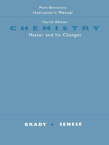 9780471484325: Chemistry Matter and its Changes
