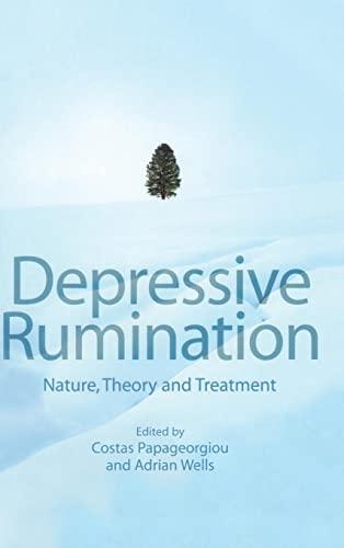 9780471486923: Depressive Rumination: Nature, Theory and Treatment