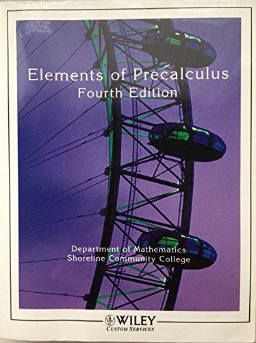 Elements of Precalculus: Math 111