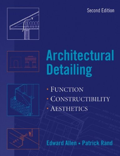 9780471488170: Architectural Detailing: Function-constructability-aesthetics