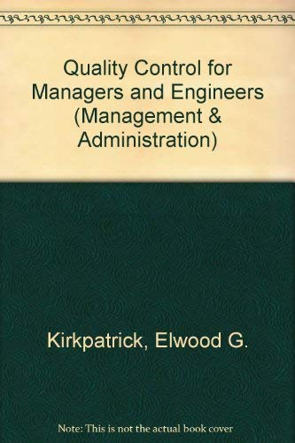 9780471488804: Quality Control for Managers and Engineers