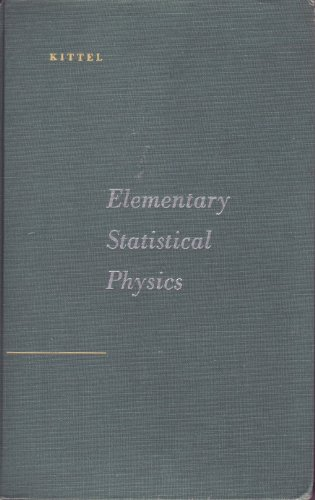 9780471490050: Elementary Statistical Physics