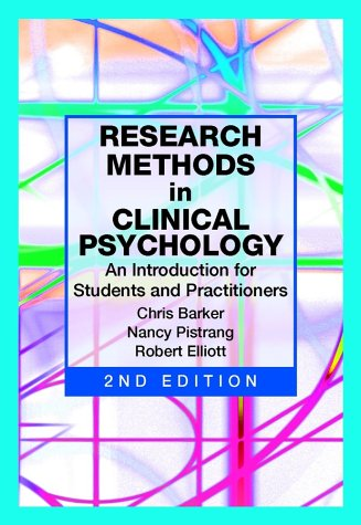9780471490876: Research Methods in Clinical Psychology: An Introduction for Students and Practitioners