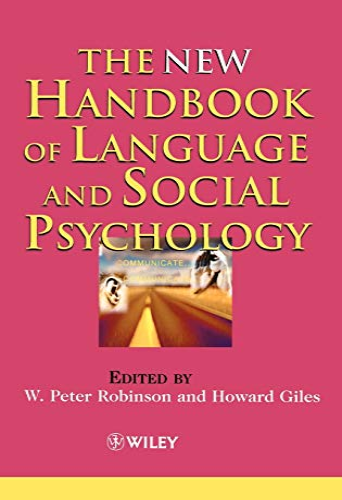 9780471490968: The New Handbook of Language and Social Psychology