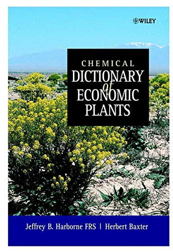 9780471492269: Chemical Dictionary of Economic Plants