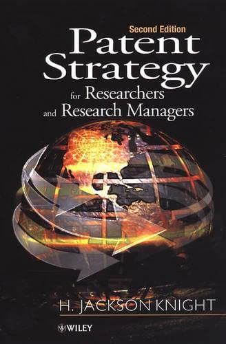 9780471492603: Patent Strategy for Researchers and Research Managers, 2nd Edition