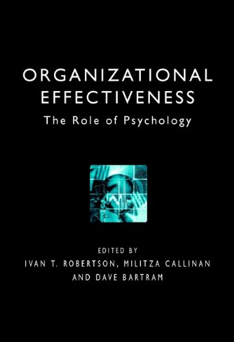 9780471492641: Organizational Effectiveness: The Role of Psychology