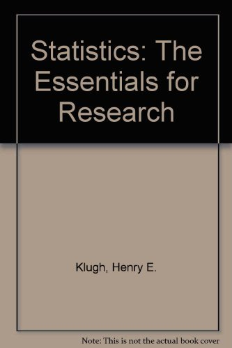 9780471493709: Statistics: The Essentials for Research