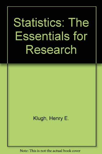 9780471493723: Statistics: The Essentials for Research