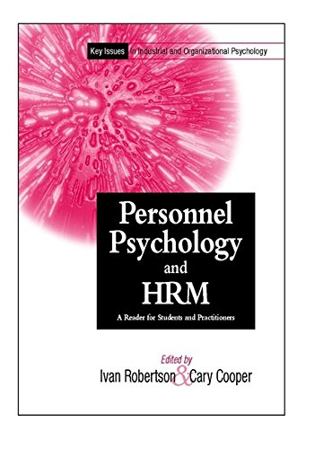 Key Issues In Industrial and Organizational Psychology,: Cary Cooper
